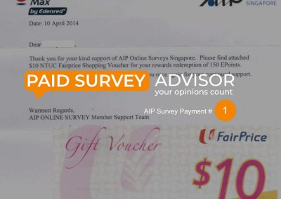 AIP Survey Payment #1