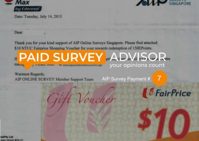 AIP Survey Payment #7