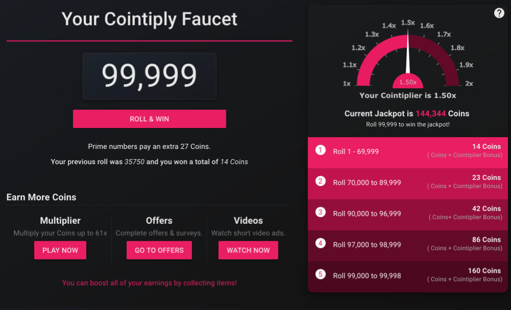 cointiply review faucet
