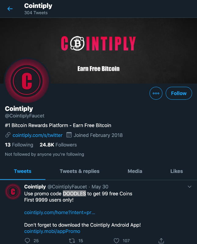 cointiply review twitter
