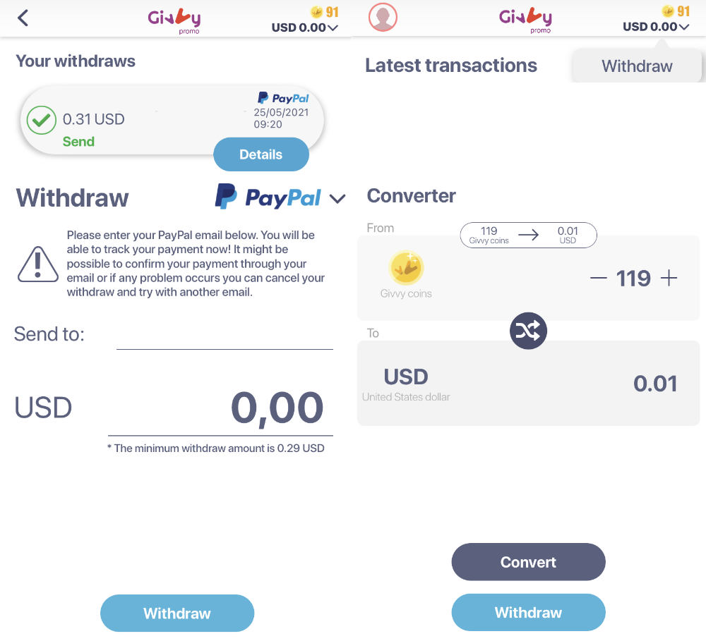 Givvy Review Payment